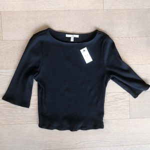 NWT Express Cropped Black Ribbed Top